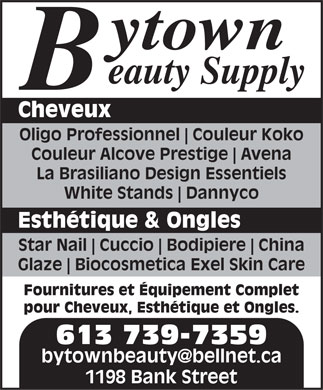 Bytown Beauty Supply - 1198 Bank Ottawa, OTTAWA, ON