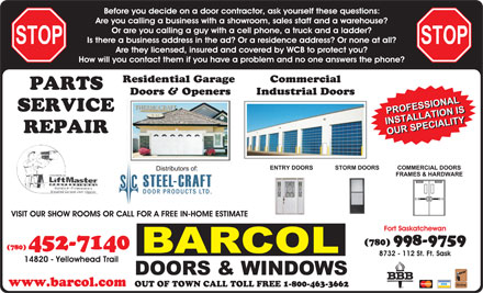 Barcol Door Company - Loves Park IL 61111. 5902 Material Ave - Ph