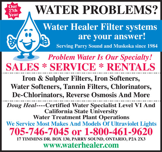 Water Filter Canada is a factory direct distributor of water filters, air purifiers and the finest quality products to better your health
