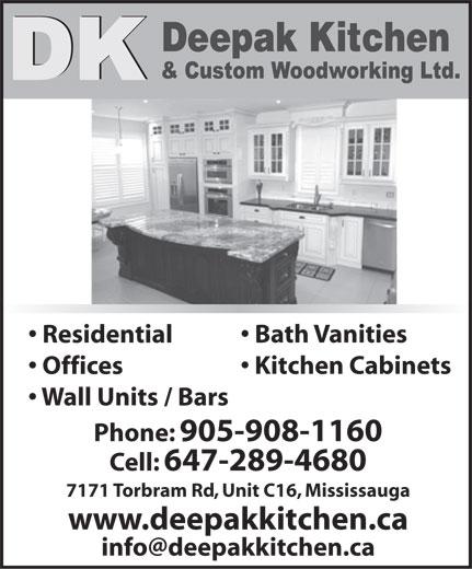 Custom Woodworking Kitchen
