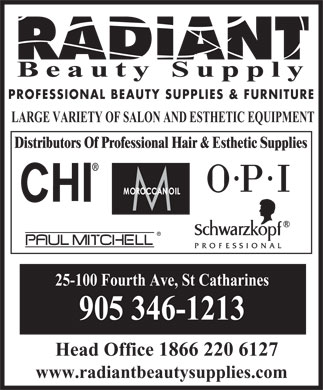 Radiant Beauty Supply - 25-100 Fourth Av, ST CATHARINES, ON