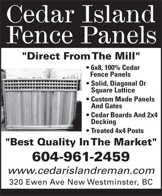 Sunbury Cedar - Fencing Vancouver - Cedar  Landscaping Products