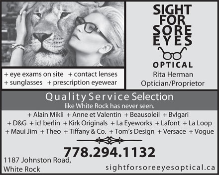 Save on Eyeglasses at Site for Sore Eyes