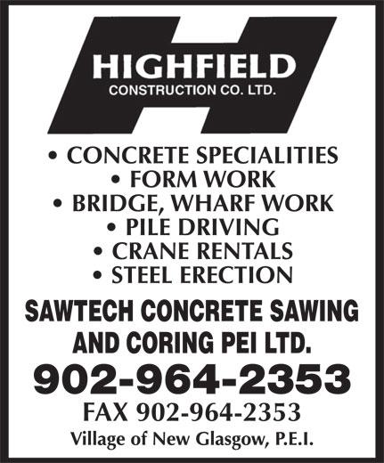 Highfield Construction Co Ltd (902-964-2353) - Annonce illustrée======= - 902-964-2353 FAX 902-964-2353