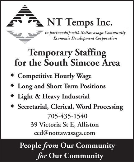 NT Temps Inc (705-435-1540) - Display Ad -