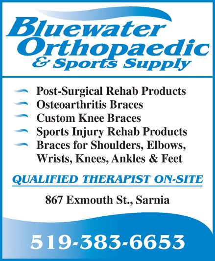Ads Bluewater Orthopaedic & Sports Supply