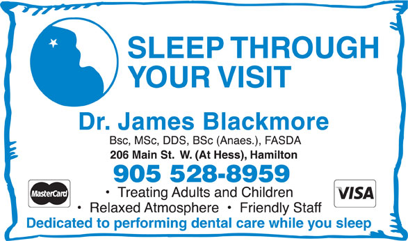 Dr James Blackmore (905-528-8959) - Display Ad -