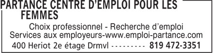 Partance Inc (819-472-3351) - Display Ad - Choix professionnel - Recherche d'emploi Services aux employeurs-www.emploi-partance.com