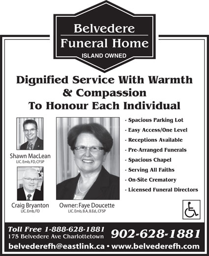 Ads Belvedere Funeral Home