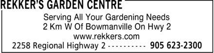 Ads Rekker's Garden Centre