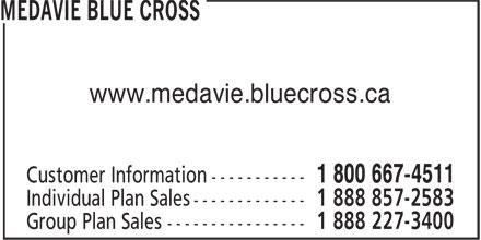 Croix Bleue Medavie (506-853-1811) - Annonce illustrée======= - www.medavie.bluecross.ca