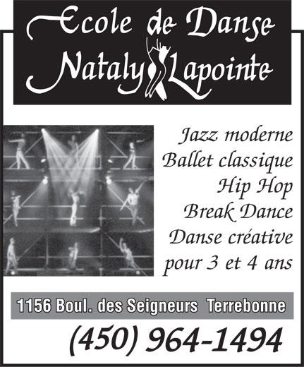 Ads Ecole de Danse Nataly Lapointe