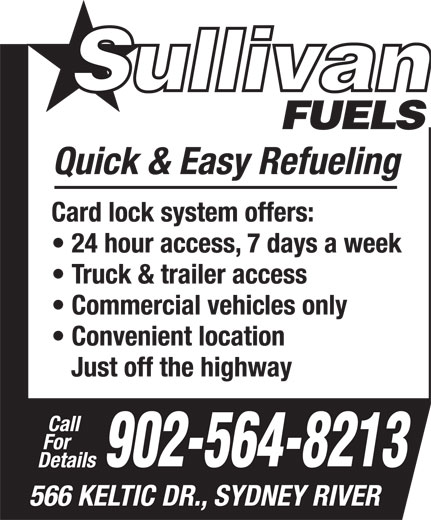 Sullivan Fuels 566 Keltic Dr Cape Breton Ns