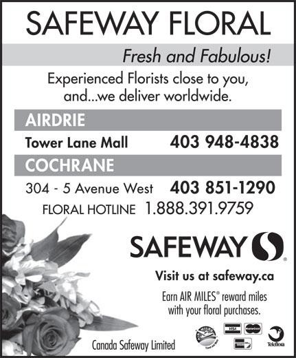 Safeway (1-888-391-9759) - Display Ad -