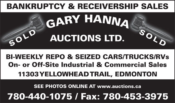Ads Gary Hanna Auctions Ltd