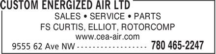 Custom Energized Air Ltd (780-465-2247) - Annonce illustrée======= -