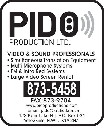 Pido Production Ltd (867-873-5458) - Display Ad -