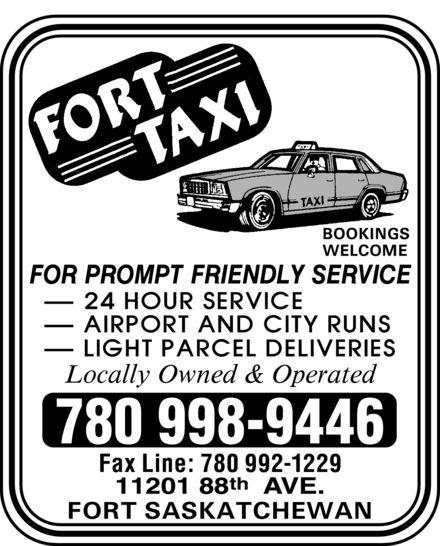 Fort Taxi (780-998-9446) - Annonce illustrée======= - 780 998-9446 Fax Line: 780 992-1229