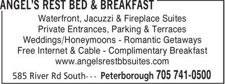 Angel's Rest Bed & Breakfast (705-741-0500) - Annonce illustrée======= -
