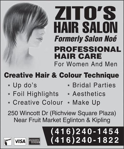 Zito's Hair Salon (416-240-1454) - Annonce illustrée======= - () 416240-1454 () 416240-1822 () 416240-1454 () 416240-1822  () 416240-1454 () 416240-1822 () 416240-1454 () 416240-1822