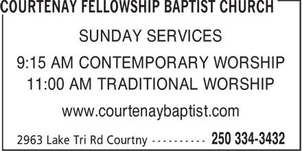 Ads Courtenay Fellowship Baptist Church