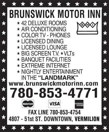Brunswick Motor Inn (780-853-4771) - Annonce illustrée======= -