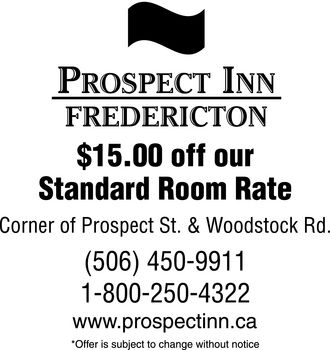 Prospect Inn Fredericton (506-450-9911) - Coupon