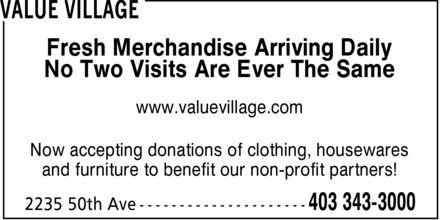 Ads Value Village