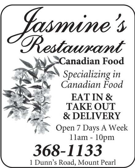 Jasmine's (709-368-1133) - Annonce illustrée======= -