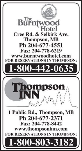 The Burntwood Hotel (204-677-4551) - Display Ad -