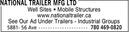 National Trailer Mfg Ltd (780-469-0820) - Annonce illustrée======= -
