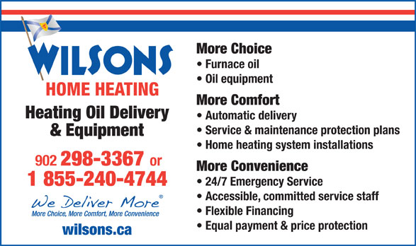 Wilsons Home Heating 2984 Highway 325 Wileville Ns