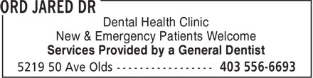 Dental Health Clinic (403-556-6693) - Display Ad - Dental Health Clinic Services Provided by a General Dentist New & Emergency Patients Welcome