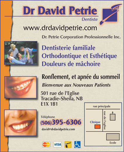 Dr David Petrie (506-395-6306) - Annonce illustrée======= -