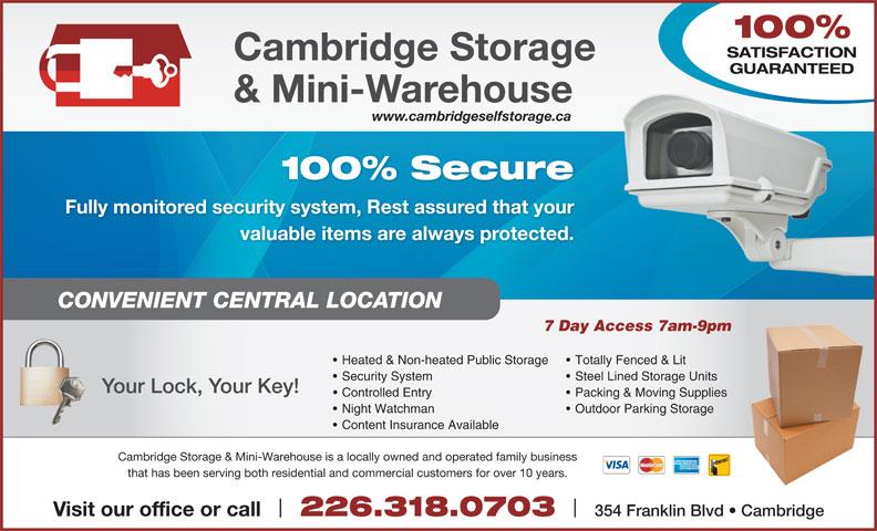 Ads Cambridge Storage & Mini Warehouse