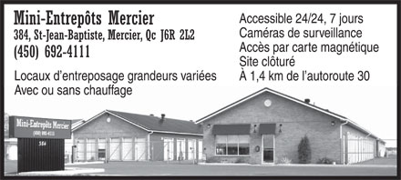 Ads Mini-Entrepôts Mercier