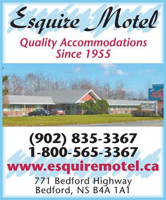 Esquire Motel (902-835-3367) - Annonce illustrée======= -