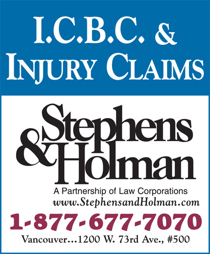 Stephens & Holman (1-877-677-7070) - Display Ad -