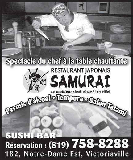 Restaurant Japonais Samurai Plus (819-758-8288) - Annonce illustrée======= -