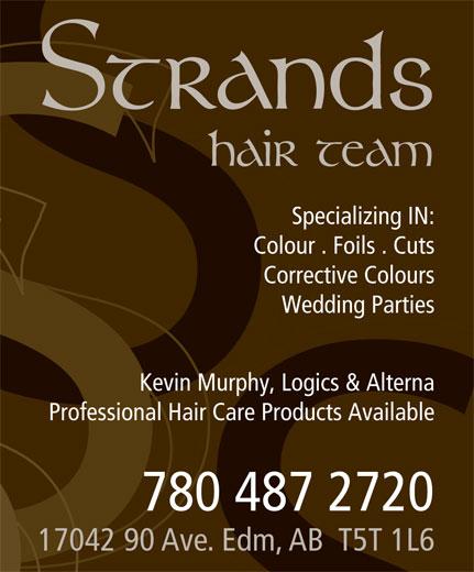 Strands Hair Team (780-487-2720) - Display Ad -