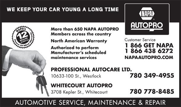 NAPA Autopro (1-866-438-6272) - Annonce illustrée======= -