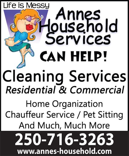 Anne's Household Services (250-716-3263) - Display Ad - 250-716-3263 www.annes-household.com 250-716-3263 www.annes-household.com