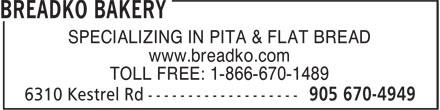 Ads Breadko Bakery