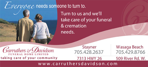 Ads Carruthers & Davidson Funeral Home