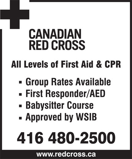 Canada Red Cross (416-480-2500) - Display Ad -