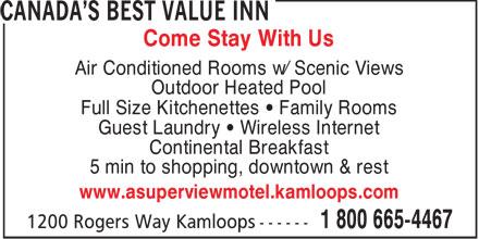 Canadas Best Value Inn & Suites (250-374-8100) - Annonce illustrée======= -