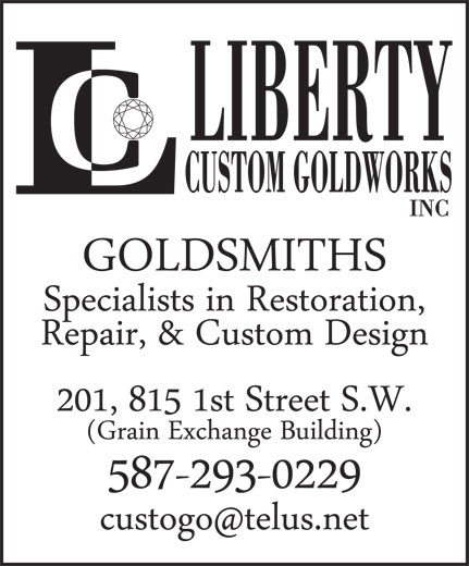 Liberty Custom Goldworks Inc (403-264-2429) - Annonce illustrée======= - LIBERTY CUSTOM GOLDWORKS INC