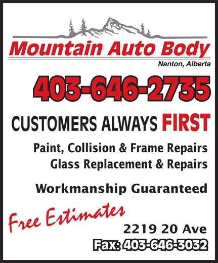 Mountain Auto Body (403-646-2735) - Annonce illustrée======= -