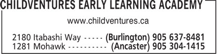 Childventures Early Learning Academy (905-637-8481) - Display Ad - www.childventures.ca  www.childventures.ca