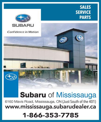 Subaru Canada (905-569-7777) - Annonce illustrée======= - 1-866-353-7785